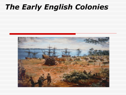 Early English Colonization