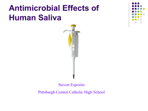 human saliva antimicrobial effects Esposito pjas final slids