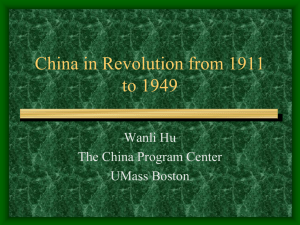 China in Revolution from 1911 to 1949 - OLLI