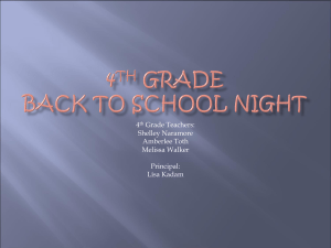 4th Grade Back to school night