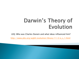 Darwin*s Theory of Evolution