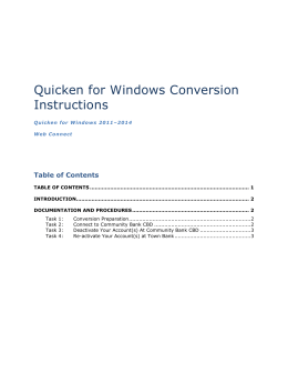 Quicken Web Connect (Windows)