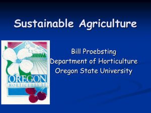 Sustainable Agriculture - Oregon State University