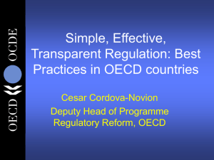 Simple, effective, transparent regulation: best practices in OECD
