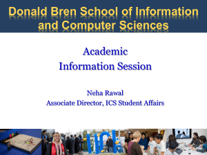 2014DiscoverUCI - Donald Bren School of Information and