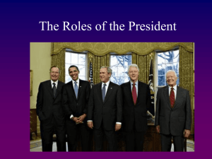 The Roles of the President