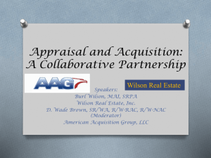 Appraisal and Acquisition: A Collaborative Partnership