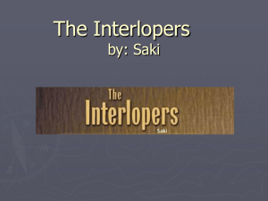 The Interlopers by: Saki - LC