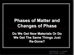 Phases of Matter/Changes of Phase PowerPoint