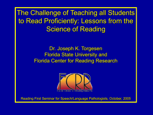 PowerPoint - Florida Center for Reading Research