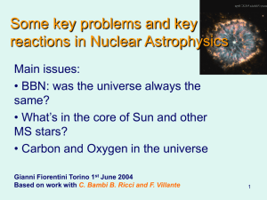 Nuclear astrophysics: key problems and key reactions