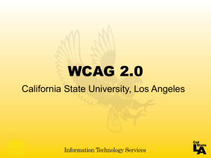 WCAG 2.0 PowerPoint - California State University, Los Angeles