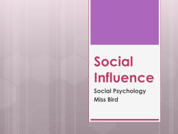 Social Influence - Beauchamp Psychology