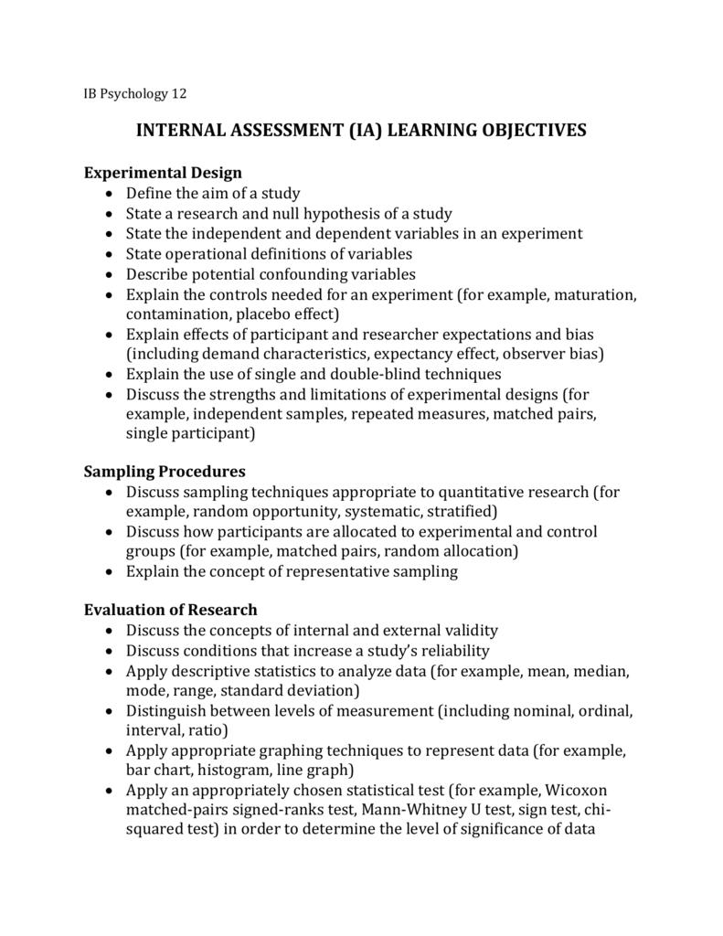IA Objectives