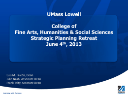 College of Fine Arts, Humanities & Social Sciences