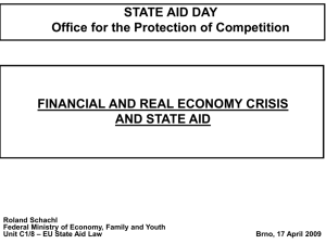 Financial and Real Economy Crisis and State Aid Day