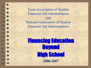 Financial Aid Powerpoint Presentation