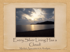 Every Silver Lining Has a Cloud! Market Assessment & Analysis