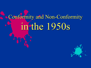 Conformity of the 50s PP
