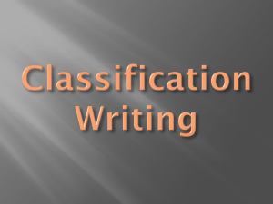 Classification Writing - NWACC