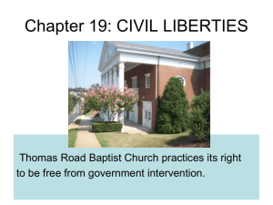 Chapter 19: CIVIL LIBERTIES - Amherst County High School