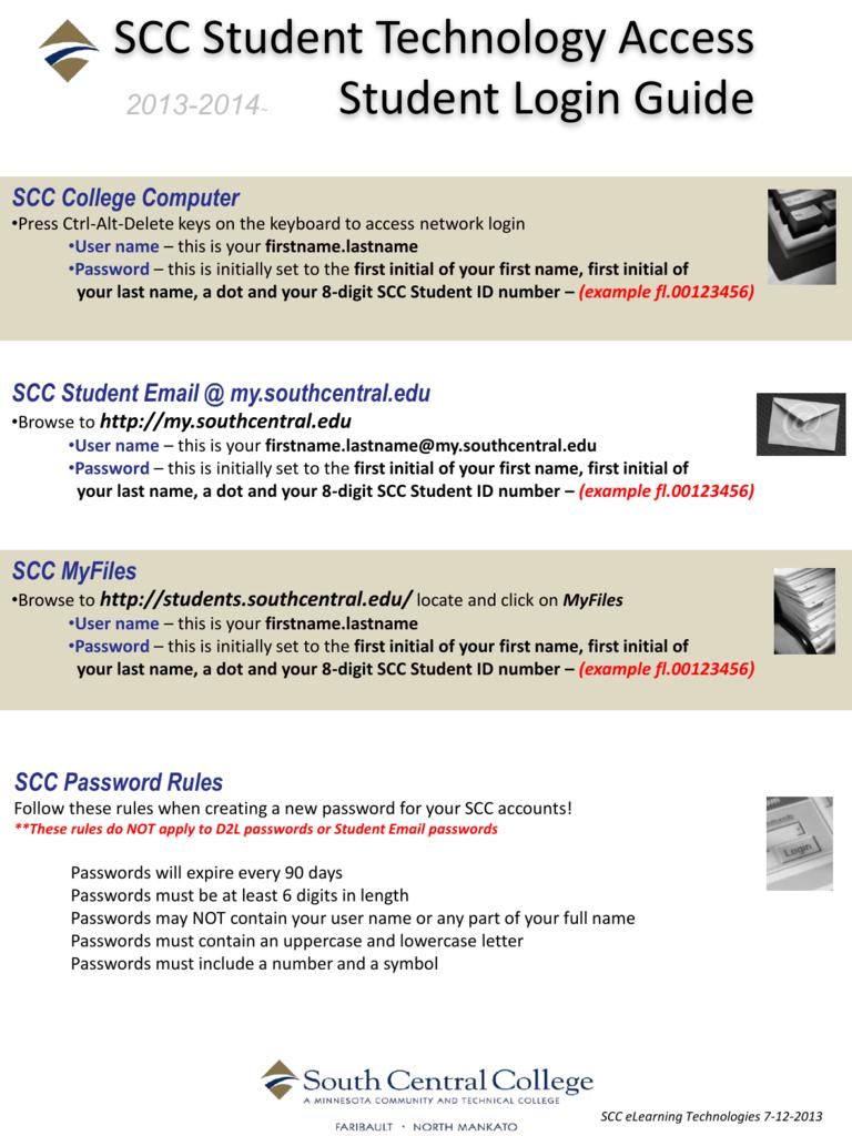 SCC Student Email Mysouthcentraledu - South central d2l