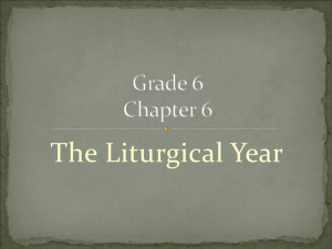 Grade 6 Chapter 6 Liturgical Year
