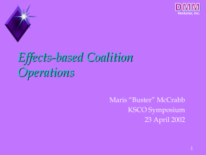 Effects-based Coalition Operations