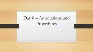 Day 6– Passage Packet procedures and Vocab intro