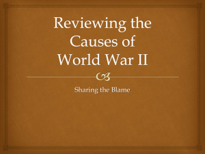 Reviewing the Causes of World War II