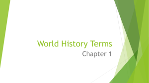 World History Terms