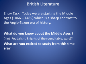 What do you know about the Middle Ages
