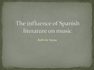The influence of Spanish literature on music