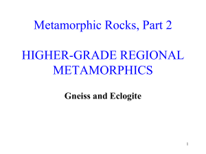 Metamorphic Rocks, Part 1 HIGHER