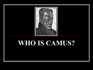 who is camus? - AP English Literature and Composition
