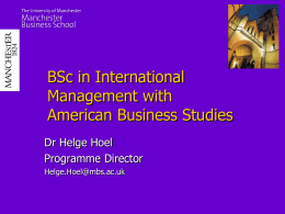 BSc in International Management