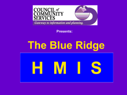 HMIS Training - Council of Community Services