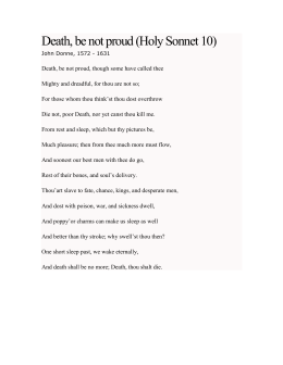 death be not proud summary by john donne