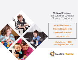 Improvement - BioBlast Pharma