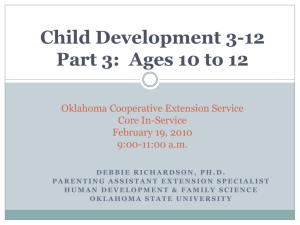 Child Development 3-12 Part 2: Ages 6 to 9 Oklahoma Cooperative