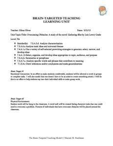 brain-targeted teaching learning unit