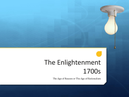The Enlightenment 1700s