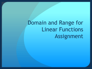 Domain and Range for Linear Functions Assignment