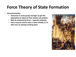 Force Theory of State Formation