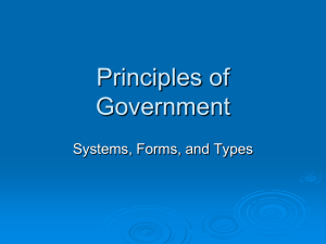 Principles of Government - Paulding County Schools
