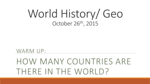 World History/ Geo October 26th, 2015