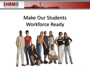 SHRM Workforce Ready Presentation