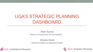 UGA's Strategic Planning Dashboard