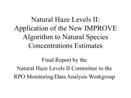 Natural Haze Levels II: Application of the New IMPROVE Algorithm