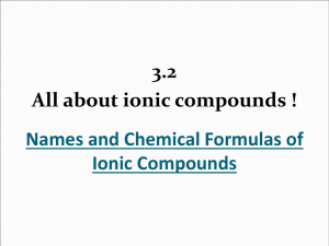 How to write chemical formulas of ionic compounds